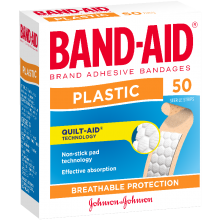 Band-Aid Plastic Sterile Strips 50 pack