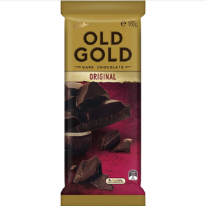 Cadbury Chocolate Block Old Gold Dark Choc Original 180g