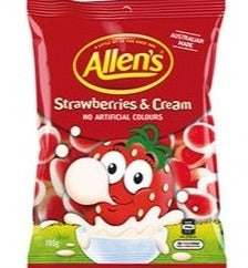 Allens Strawberries and Cream 190g