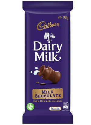Cadbury Chocolate Block Dairy Milk 180g