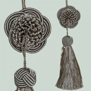 Small Round Disc Tassel Taupe 17cm
