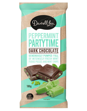 Darrell Lea Block Chocolate Peppermint Partytime 180g