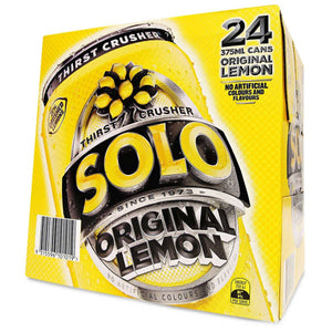 Solo Lemon Cans 375ml x 24