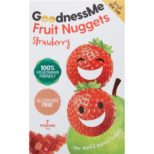 Goodnessme Fruit Nuggets Strawberry 119g