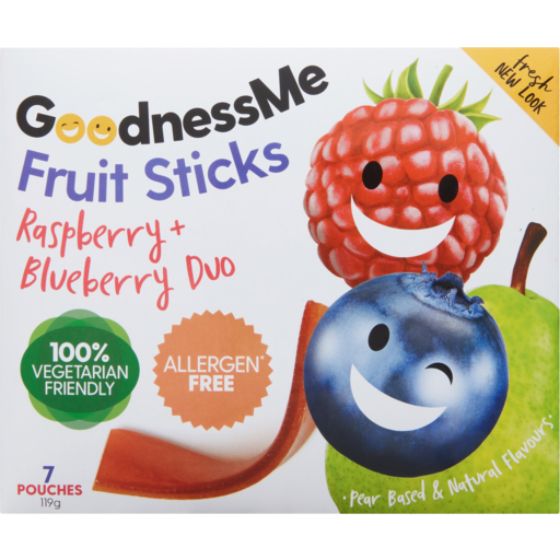 Goodnessme Fruit Sticks Raspberry & Blueberry 119g