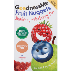 Goodnessme Fruit Nuggets Raspberry & Blueberry 119g