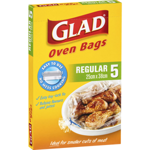 Glad Oven Bag Regular 5pk