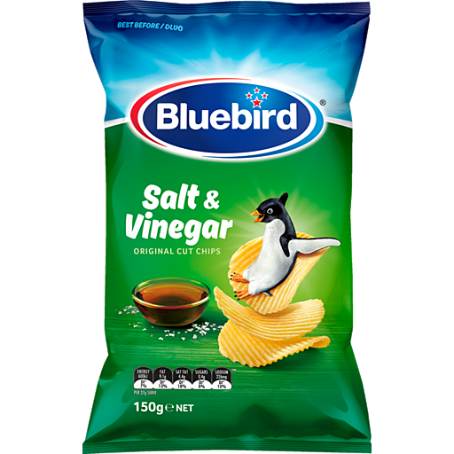 Bluebird Original Salt And Vinegar 150g