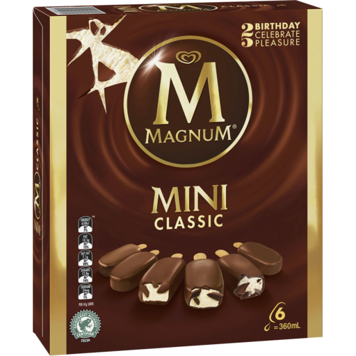 Magnum Mini Ice Cream Classic 6 pack