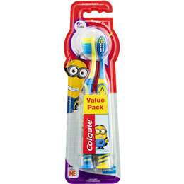 Colgate Minions Kids Toothbrush 6 Years + Extra Soft 2 pack