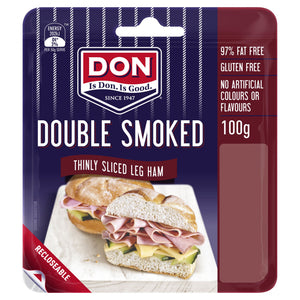 Don Double Smoked Thinly Sliced Ham GF 100g