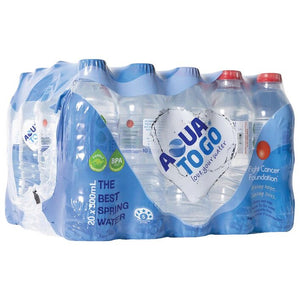Aqua To Go Premium Spring Water 500ml 20pk