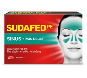 Sudafed Pe Sinus + Pain Relief 20 pack