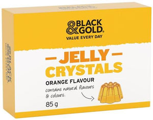 Black & Gold Orange Jelly Crystals 85g