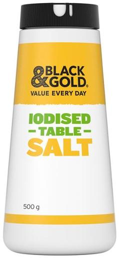 Black & Gold Iodised Table Salt 500g