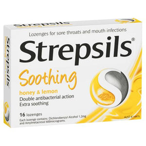 Strepsils Honey & Lemon Lozenges 16 Pk