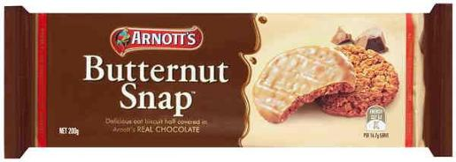 Arnotts Butternut Snap Choc Biscuits 200g