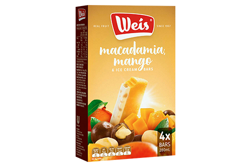 Weis Ice Cream Macadamia With Mango & Cream 4 pack