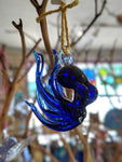 Hand-blown Glass Octopus Ornament