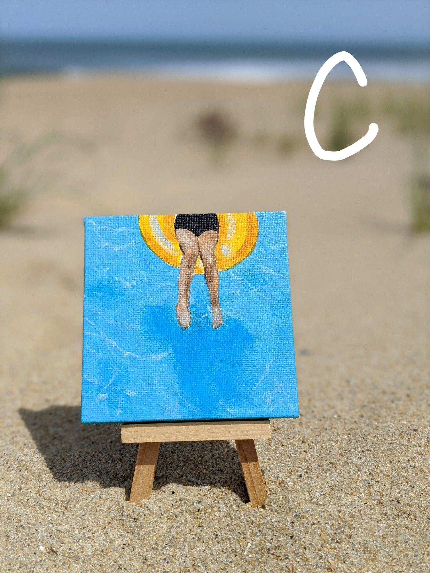 Mini Original Paintings by Gretchen Hargis- Beach Scenes