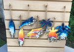 Ocean and Sunset Resin Ornaments