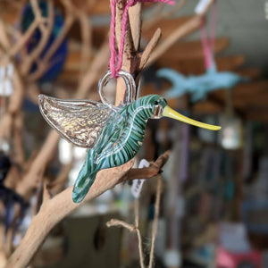 Hand-blown Hummingbird by T.Rose Glass