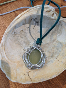 Lowtide Jewels Wire Wrapped SeaGlass Necklaces