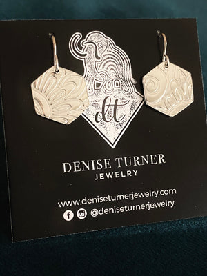 Hand-stamped Sterling Earrings by Denise Turner Jewerly*