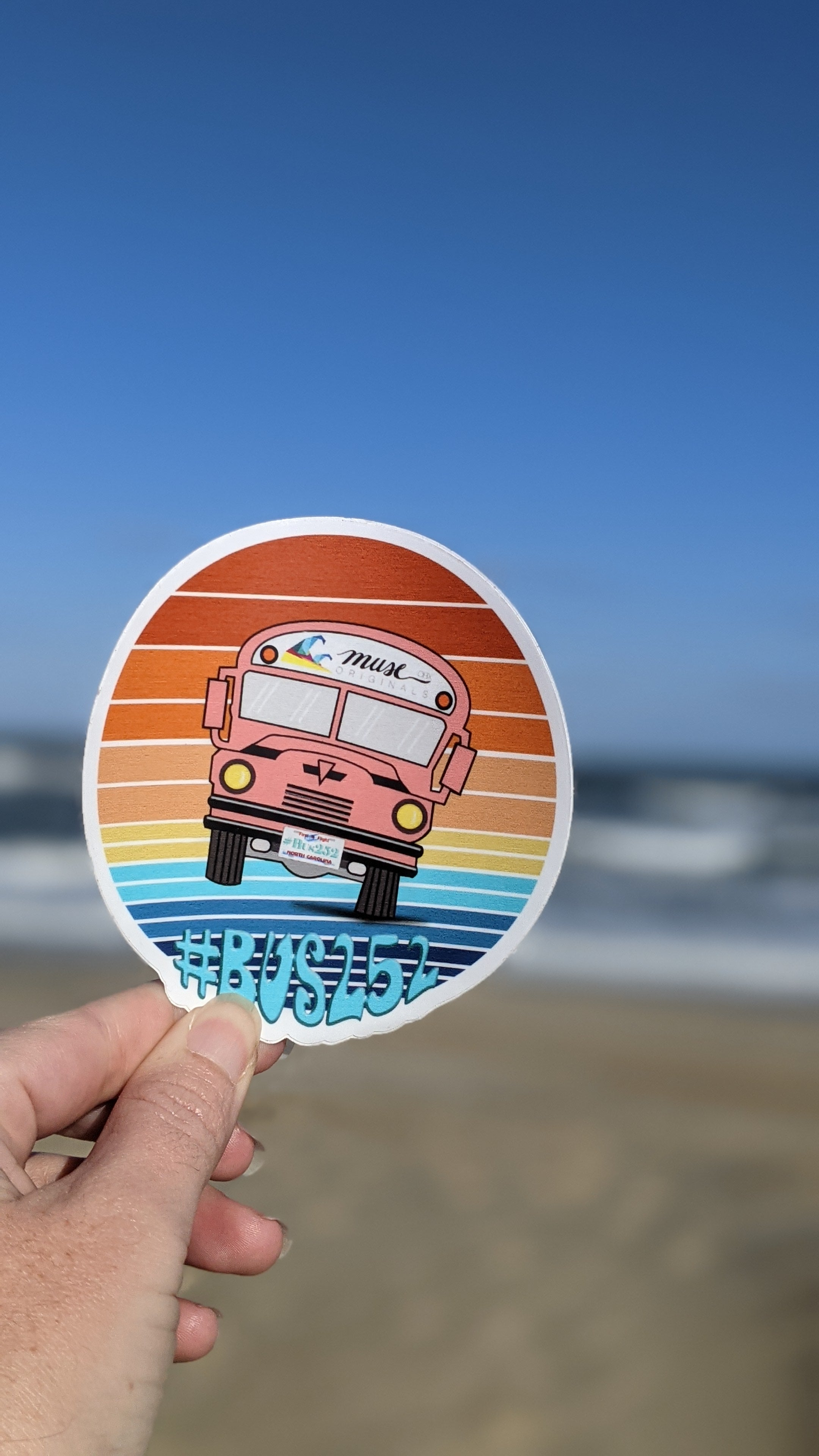 Bus252 Vinyl Sticker 4in
