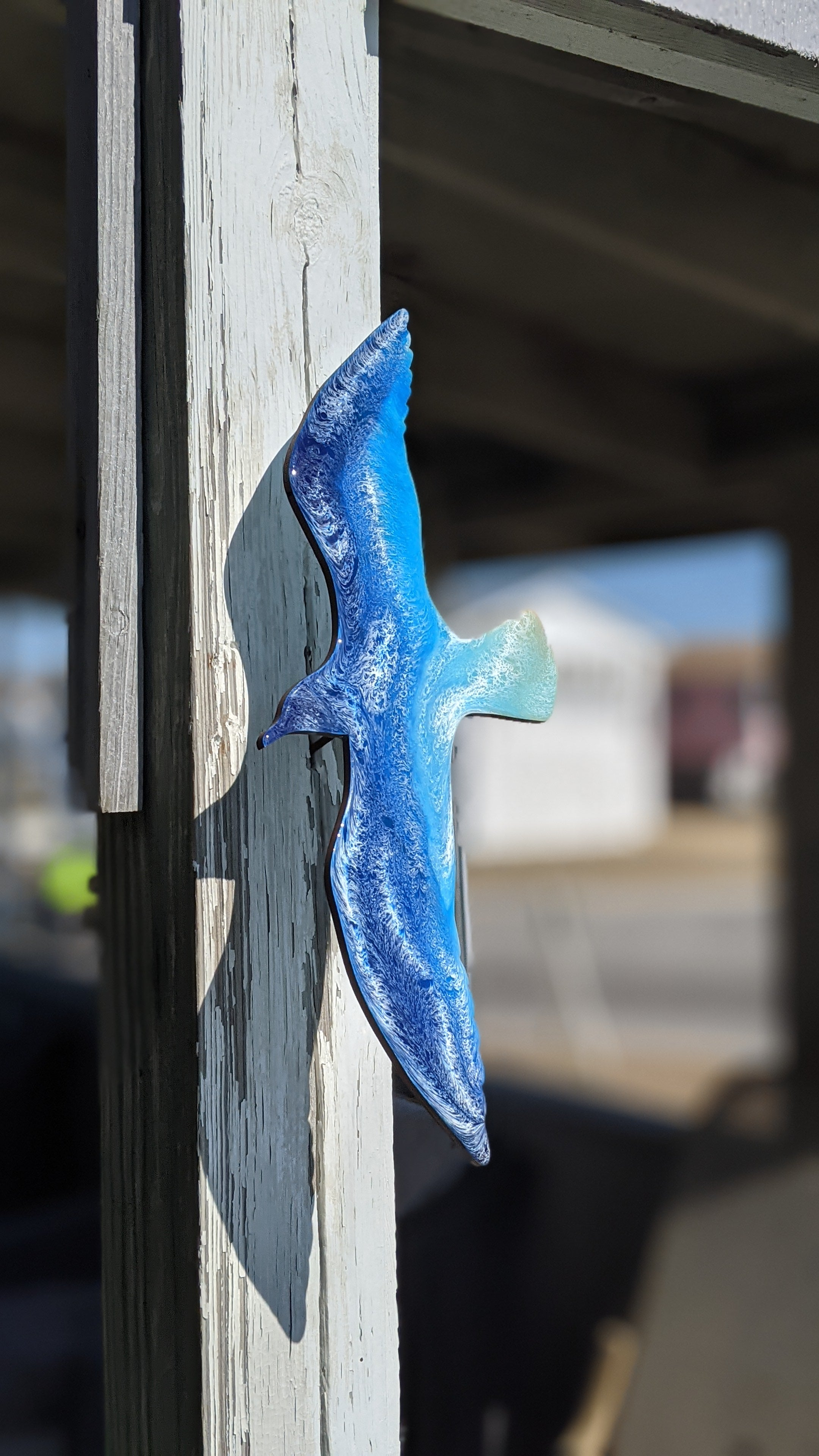 Seagull wall hanger resin
