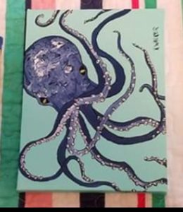 8x6 octopus painting Karin Walker