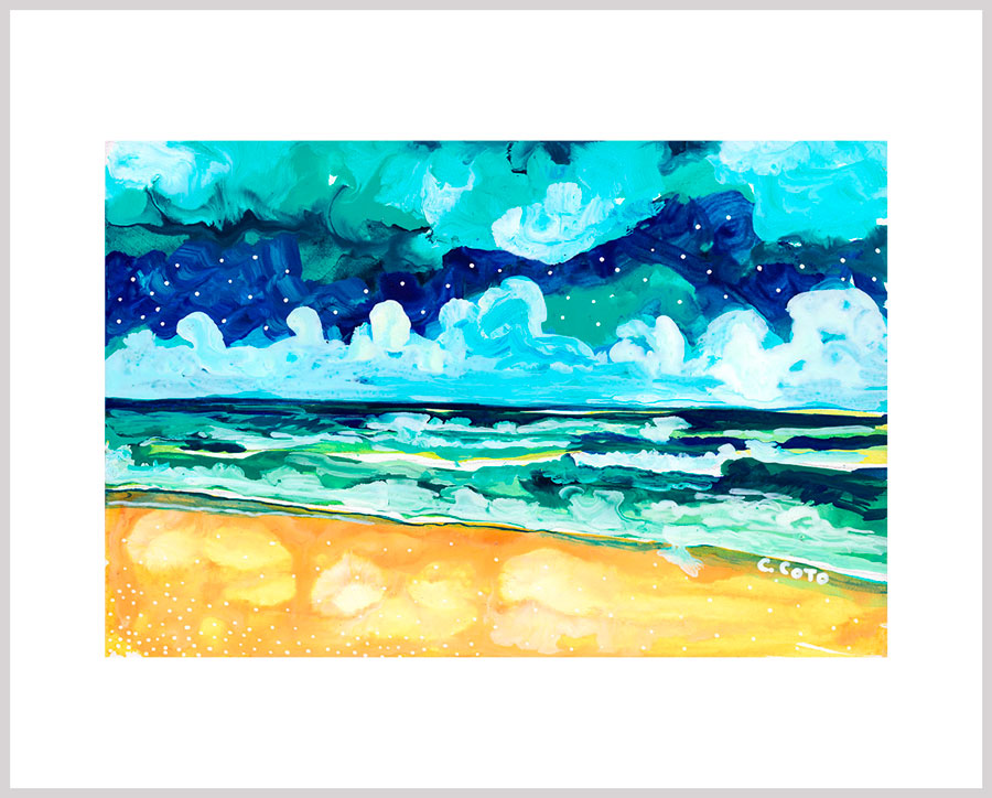 Simple Seascape X - Carolina Coto Art - Art Print