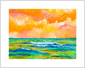Simple Seascape XIII - Carolina Coto Art - Art Print