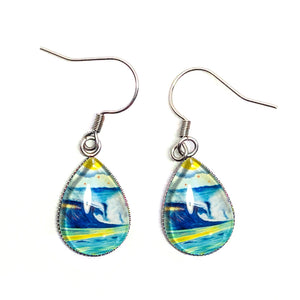 Wave 2.2 - Stainless Steel Earrings - Carolina Coto Art