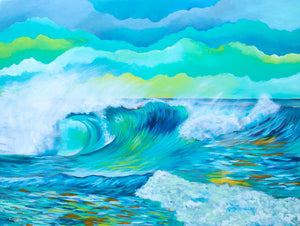 Wave 2.7 - Carolina Coto Art - Art Print