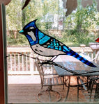 Hand-painted Cardinal & Blue Jay Suncatchers