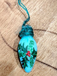 Vintage Lightbulb Ornament - Holly Sprig