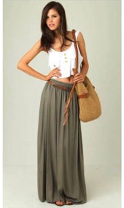 Boho Babe Lightweight Summer Maxi Skirt