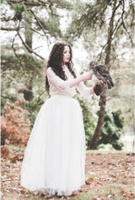Load image into Gallery viewer, Bohemian Princess tulle skirt & beautiful 3/4 sleeve lace top