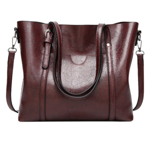 City Chic Waxed Leather Tote Bags