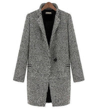 Load image into Gallery viewer, Super Chic Grey Cotton Blend Trench Coat