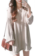 Load image into Gallery viewer, Boho Babe Super Cute Woolen Oversize Jumper Dress