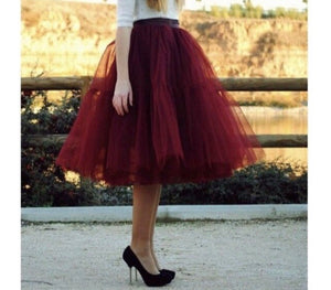 'Gypsy' two tiered tulle petticoat skirt
