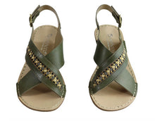 Load image into Gallery viewer, Boho Babe 'Veronique' Beaded Leather Andacco Sandals