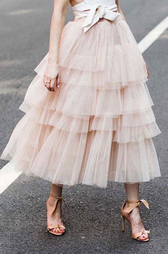 Retro Revival Super Fluffy Tiered Vintage Style Tulle Petticoat Skirt