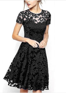 Black Super Chic Lace Party Dress