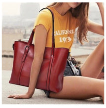 Load image into Gallery viewer, City Chic Waxed Leather Tote Bags