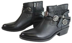 Inuovo Makemake Leather Cowgirl Ankle Boots