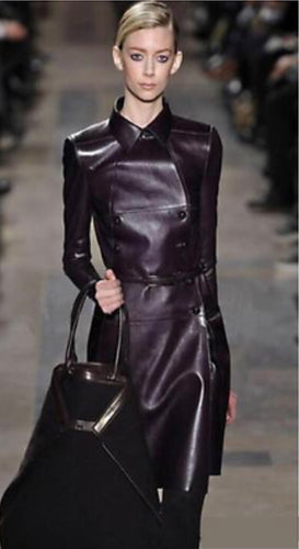 City Chic Super Sexy Fitted Leather Trench Coat