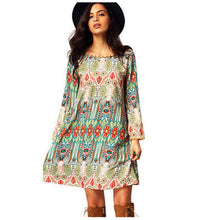 Load image into Gallery viewer, Boho Babe Super Cute Aztec Inspired Geometric Print Cactus Midi Dress